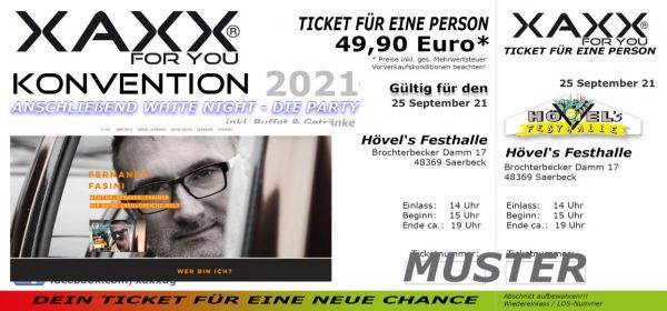 Ticket XAXX-KONVENTION 25 September 2021