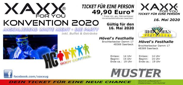 Ticket XAXX-KONVENTION 08. Mai 2021