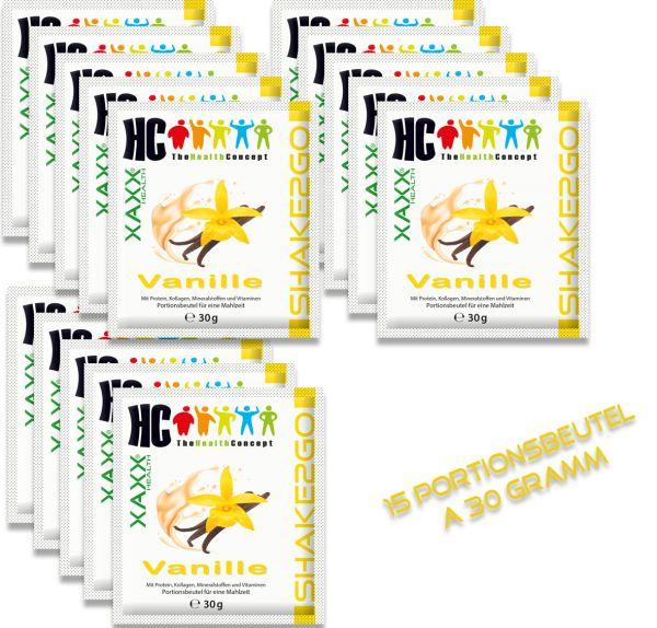 HC BODY CONTROL SHAKE2GO VANILLE 15 PORTIONSBEUTEL a' 30 Gramm